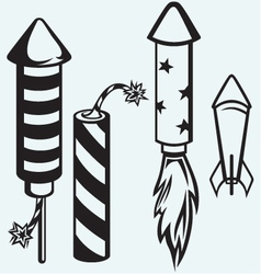 Rocket fireworks vector