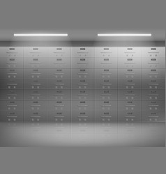safety deposit boxes in bank realistic vector image