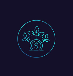 Seed money capital icon vector