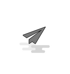 send button web icon flat line filled gray icon vector image