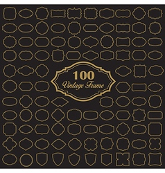set 100 blank vintage frame vector image