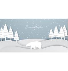 snowflake design vector image