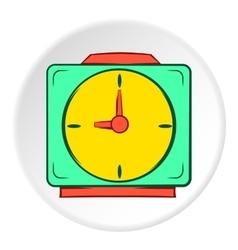 Square wall clock icon cartoon style vector image