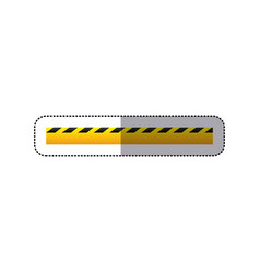 Sticker striped hazard tape line construction vector