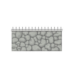 stone fence with metal pikes vector image