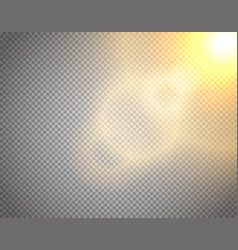 Sunshine effect isolated on transparent vector