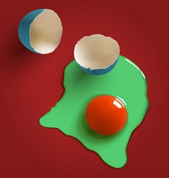 Surreal raw egg vector