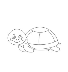 Turtle for coloring book vector