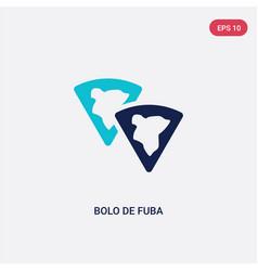 Two color bolo de fuba icon from cultures concept vector