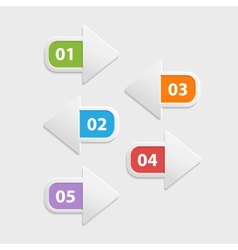 Web arrow buttons icon infographic isolated vector