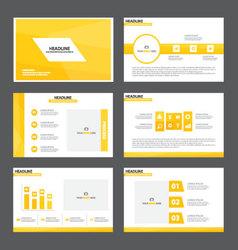 Yellow Theme presentation templates Infographic vector