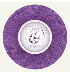 Cotton flower in needle spool vector image