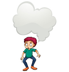 man with blank idea cloud vector image vector image