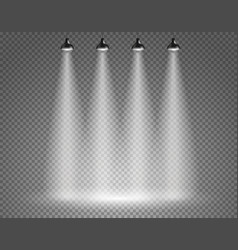 scene with spotlights on transparent background vector image vector image