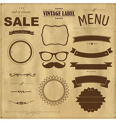 Set Of Vintage Badges With Paper Background vector image vector image