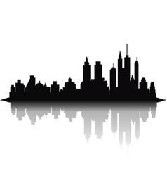 skyline city on white background vector image