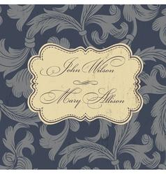 wedding card design vintage vector image