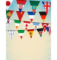 World flag bunting vector image