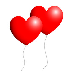 ballon heart for valentine days red color vector image vector image