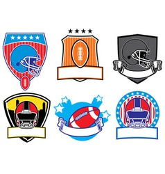 football patch vector image