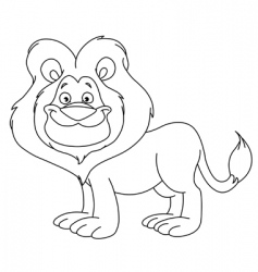 outlined lion vector image vector image