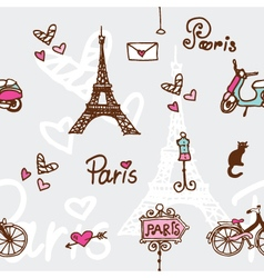 Paris - seamless pattern vector image vector image