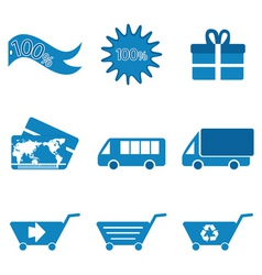 retail and transport icons vector image