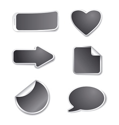 gray stickers for sale vector image vector image
