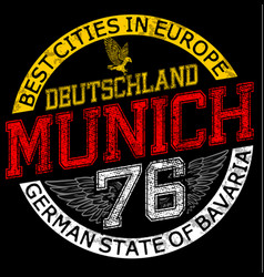 munichgermanystylish graphics design for vector image vector image