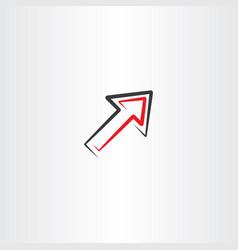 arrow icon symbol line element vector image