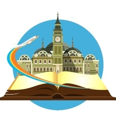 Book travel city vector