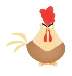 Cartoon rooster on white background vector image