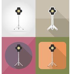 cinema flat icons 01 vector image vector image