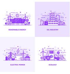 flat line purple designed concepts 10 vector image