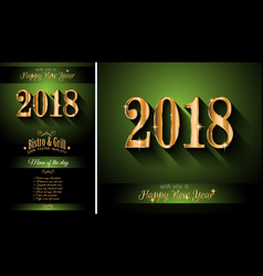 2018 happy new year background for your seasonal vector