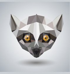 Abstract polygonal tirangle animal lemur hipster vector