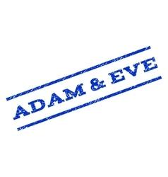 Adam eve watermark stamp vector