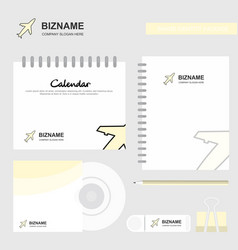aeroplane logo calendar template cd cover diary vector image