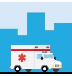 Ambulance car hurry to go vector image