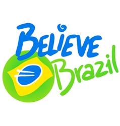 Believe Brazil symbol vector