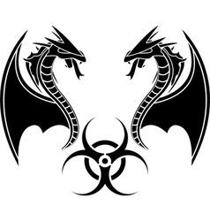 biohazard reptiles vector image