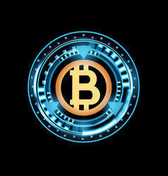 bitcoin digital currency digital money vector image