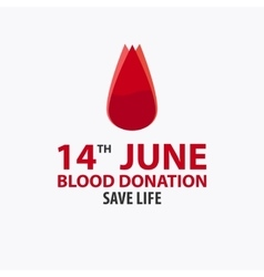 Blood donation banner Medical vector image