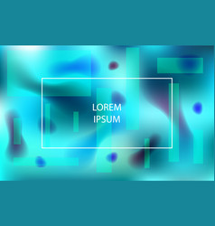blue vibrant background with abstract shapes vector image