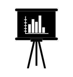 Board bar graph vector