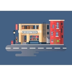 Book shop building vector