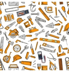 Building tool and equipment seamless pattern vector