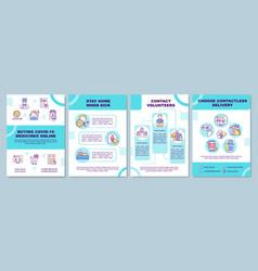 Buying covid19 medicine online brochure template vector