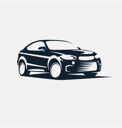 car symbol logo template stylized silhouette vector image