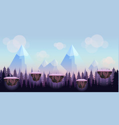 Cartoon game background seamless background for vector